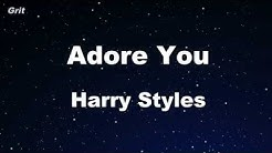 Karaoke♬ Adore You - Harry Styles 【No Guide Melody】 Instrumental