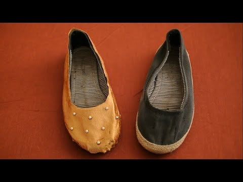 DIY How to Revamp Old ballet Shoes