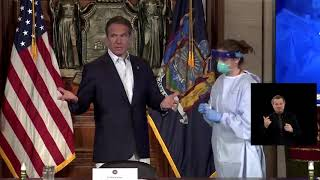New York Governor Andrew Cuomo takes COVID-19 test on live TV