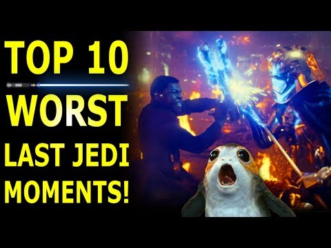 Top 10 Worst Star Wars The Last Jedi Moments & How To Fix Them