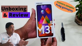 Samsung M31s 8Gb ,128 Gb Mirage Blue, Detail Unboxing & Hands on Review.Cameras & gameplay samples.