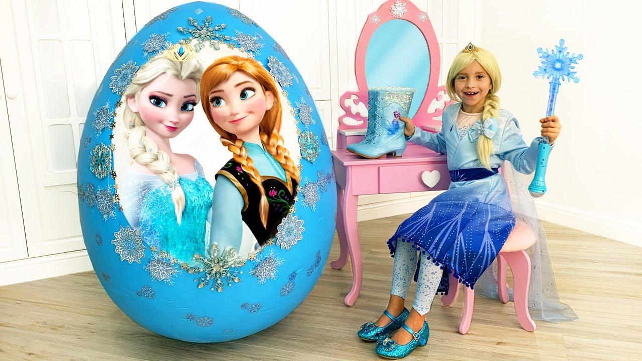 Sofia and her new Princess Elsa room - YouTube