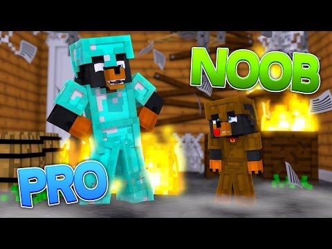 Minecraft NOOB VS PRO - HELLO NEIGHBOR CHALLENGE GAMES w/BABY MAX - Donut the Dog Minecraft