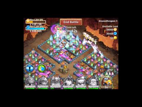 Castle Clash Insane Dungeon 3-6 With F2p Heroes