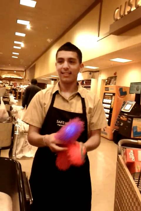 Alex the courtesy clerk Working hard for his $ - YouTube