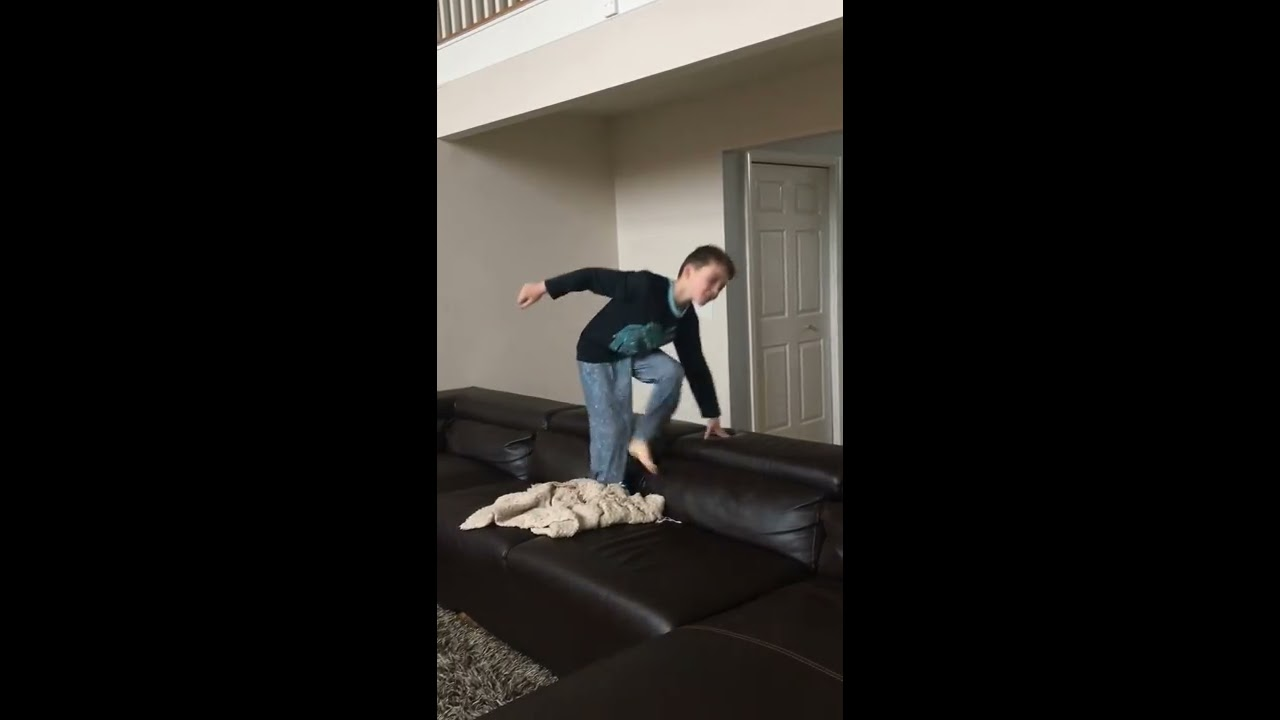 How to do a back flip on the couch Tutorial - YouTube