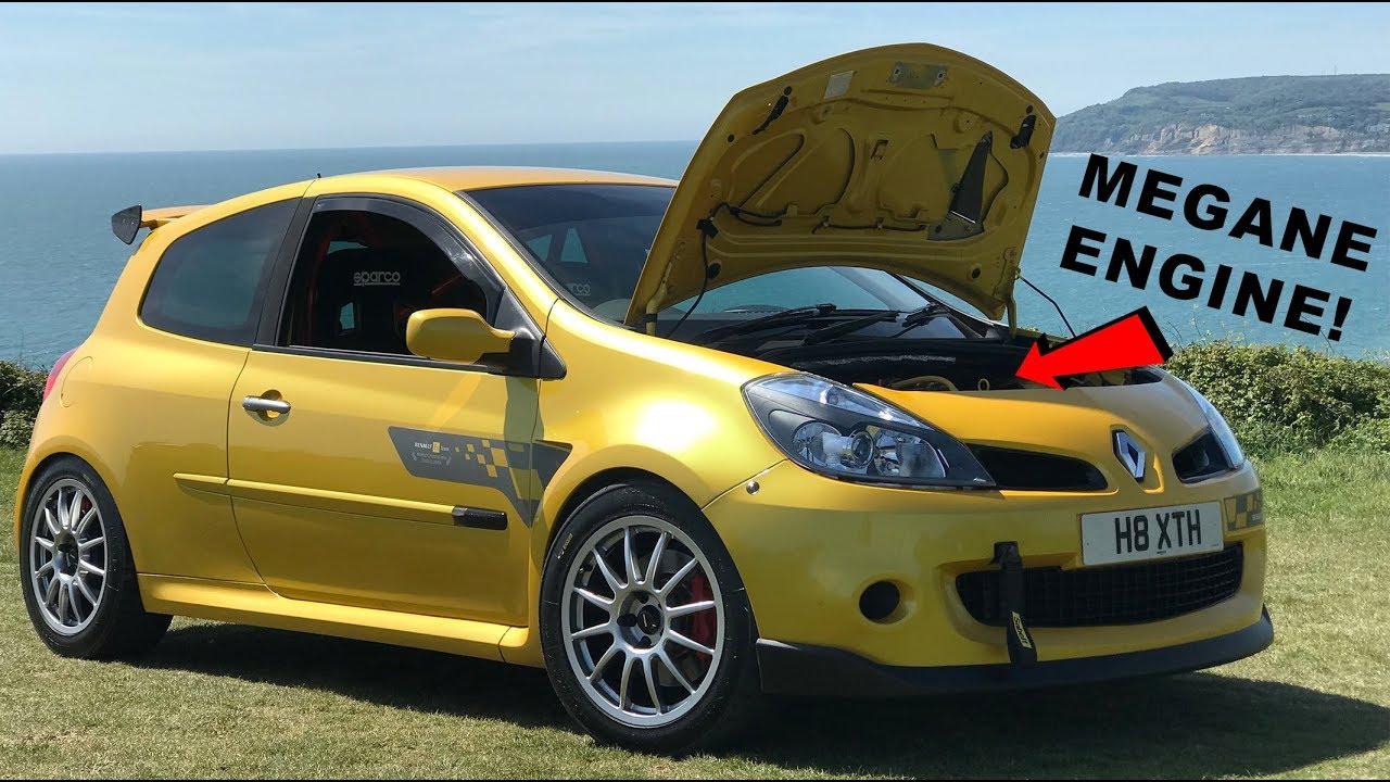 CLIO 197 TURBO MEGANE ENGINE SWAP! - 2007 Renault Clio R27 197 Review
