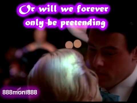 Glee - Rachel & Finn - Pretending original song Fanmade video + lyrics on  screen