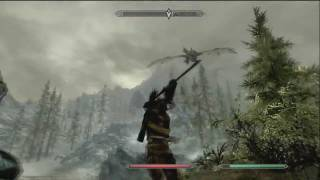 Elder Scrolls V: Skyrim - Dragon Slaying and Werewolves(Gameplay)