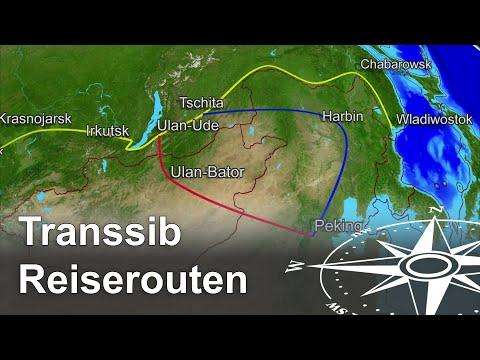 Transsibirische Eisenbahn Strecken und bliebteste Transsib Reiseroute