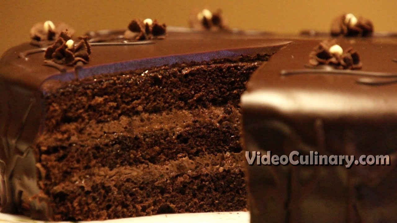 Easy Chocolate Cake Recipe Video Culinary Youtube