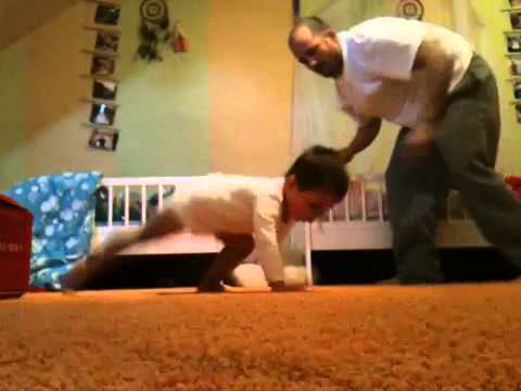 3 Year old Kids playing Capoeira