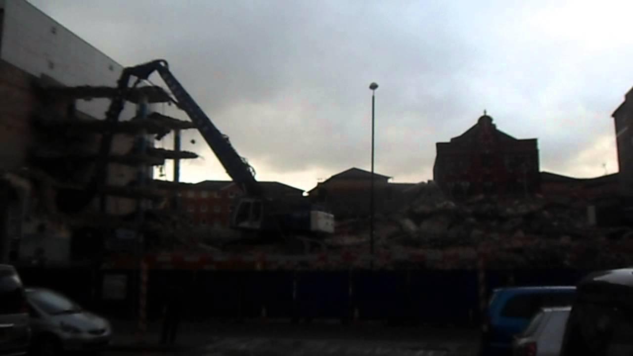 Luton Library Car Park Demolition Youtube