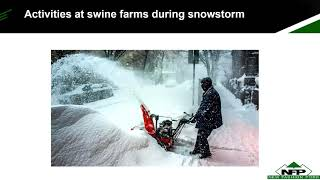 Dr. Levi Johnson - Snow storms - implications for the 72 h rule of no pig movement