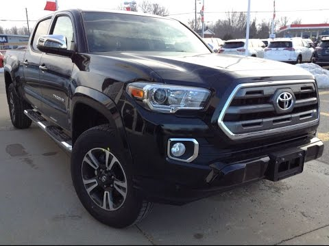 New 2017 Toyota Tacoma Limited Dbl Cab Review Black 1000 Islands Brockville