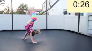 60 SECOND BACK HANDSPRING CHALLENGE TWIN VS. TWIN (2 ROUNDS!)
