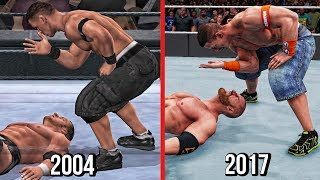 The Evolution Of John Cena Five Knuckle Shuffle ( Smackdown vs RAW To WWE 2K18 )