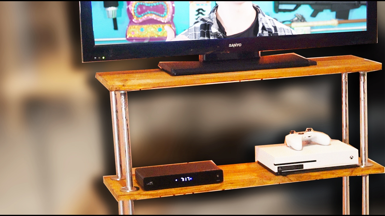 how to build a tv stand d i y tutorial youtube. Black Bedroom Furniture Sets. Home Design Ideas