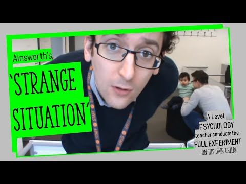 Ainsworth's Strange Situation Ravi Psychology Cardinal Pole School