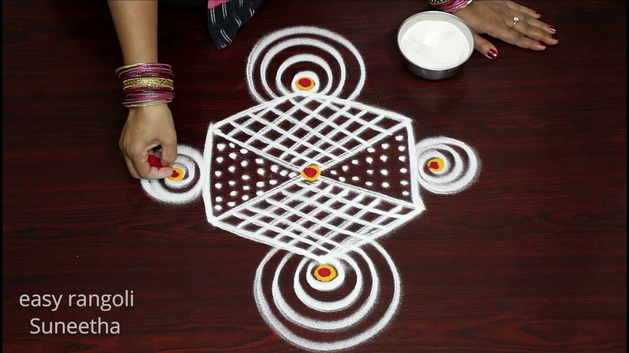 Padi kolam & rangoli designs easy rangoli Suneetha*Different muggulu designs *Unique rangoli