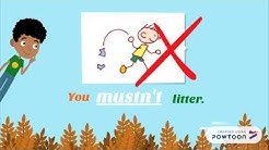 must / mustn't ︳School Rules ︳Places at school ︳English for Kids ︳Grammar for Kids