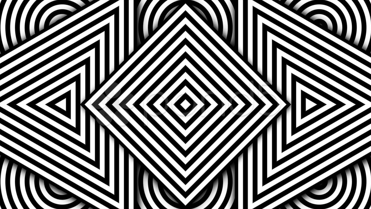 Line Art Movement : Hypnotic black and white shapes ntsc stock footage youtube