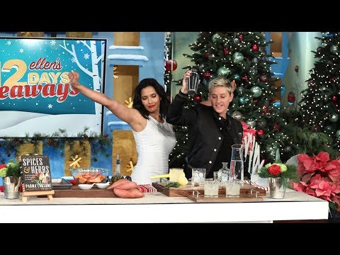 Padma Lakshmi Shakes It Up with Ellen