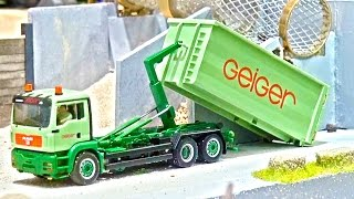 Awesome Rc Truck Action 1/87! Rc Hook lifter in match-box Scale! Mikromodellbau!