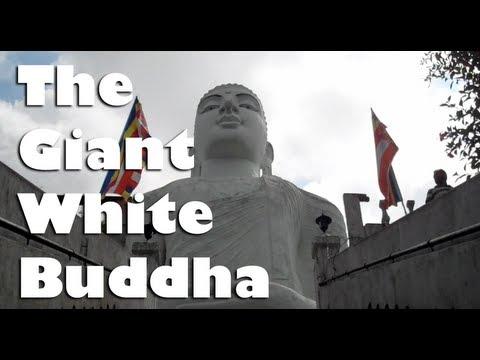 The Giant White Buddha - Kandy, Sri Lanka