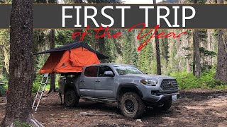 FIRST CAMPING TRIP OḞ THE YEAR || Overlanding in Washington || Toyota Tacoma TRD Off Road