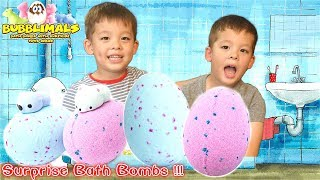 Huge Bath Bombs for Kids with Squishy Surprise Toys Inside | By Bubblimals