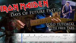 Iron Maiden - Days Of Future Past Adrian Smith's solo lesson (with tablatures and backing tracks)