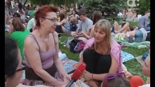 В Красноярске кино можно смотреть, сидя на траве