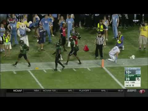 Ryan Reid's big hit on Ryan Switzer- Baylor vs North Carolina 2015