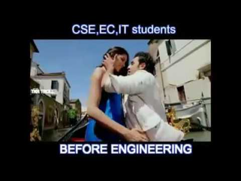 Life of engineering branches students before and after placement