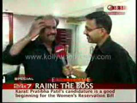 Rajini Modest Speech in NDTV Interview - Video