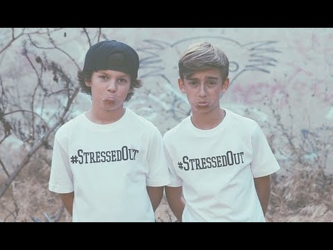 LYRICS twenty one pilots - Stressed Out (Hayden Summerall & Johnny Orlando Cover)