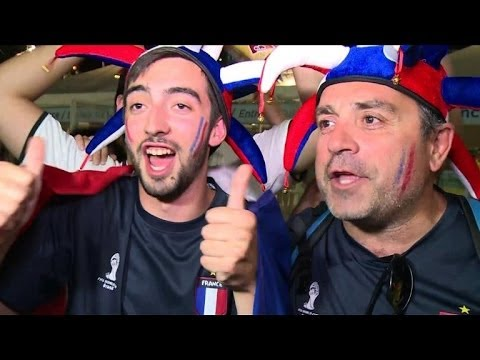World Cup: French supporters go wild in Salvador