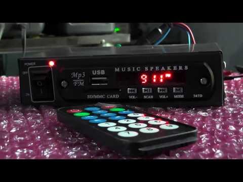 USB / FM Radio set - 60W 12V Hi-Fi Stereo Audio Amplifier, USB/Micro SD (TF) Card/FM (88-108 Mhz)
