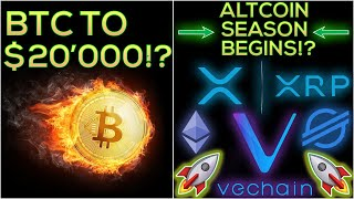 Altcoin Season Begins!!! + Bitcoin To $20'000? (HUGE BULL RUN)