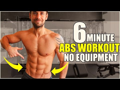 6 MINUTE ABS WORKOUT! NO EQUIPMENT! Lower ABS Focus... Follow Along Workout!