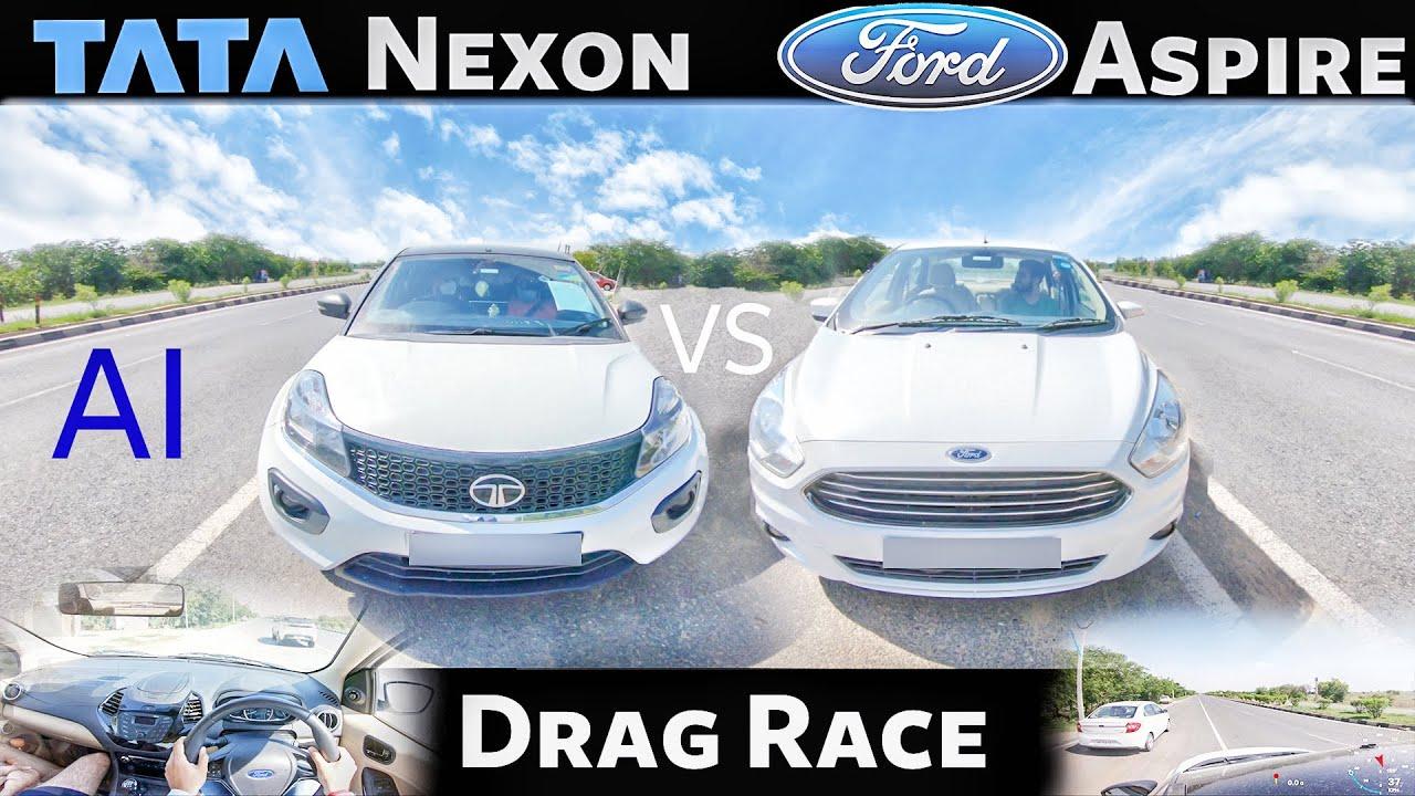 Ford Aspire vs Tata Nexon   Drag Race   POV View   Acceleration India