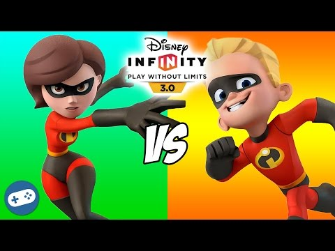 Mrs Incredible VS Dash Disney Infinity 3.0 Toy Box The Incredibles Versus Fight