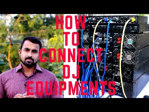 How to connect DJ Equipments | Amplifier Couple | Amplifier Daisy Chain Wiring # IN HINDI