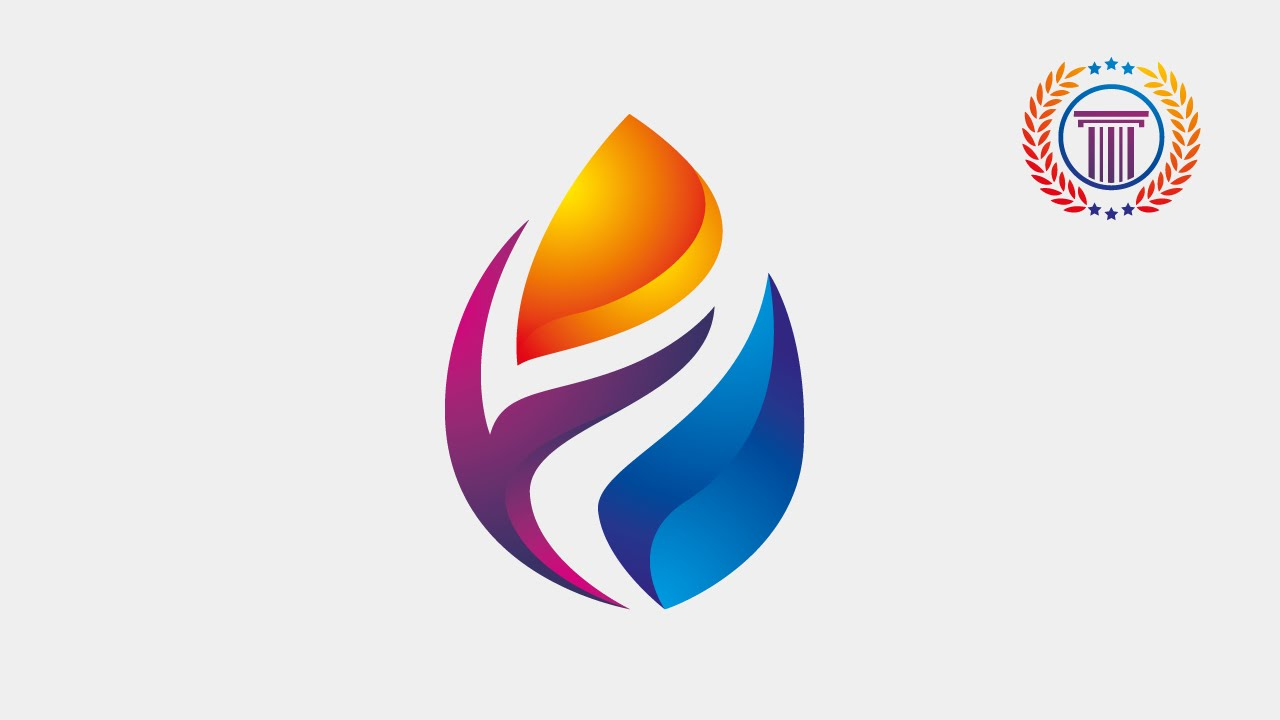 logo design illustrator tutorial - how to make 3d flame fire for logo or icon design