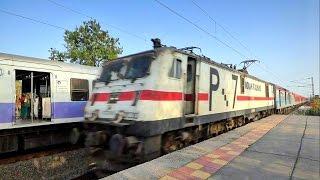 HONKING COMPETITION WITH FASTEST TRAIN ON INDIA ! MUMBAI RAJDHANI