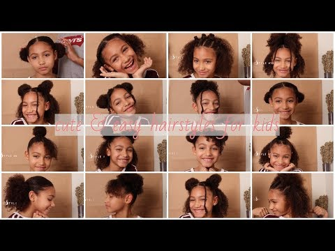 18 CUTE & EASY CURLY HAIRSTYLES  FOR KIDS