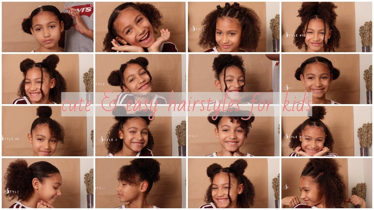 18 Cute Easy Curly Hairstyles For Kids Youtube