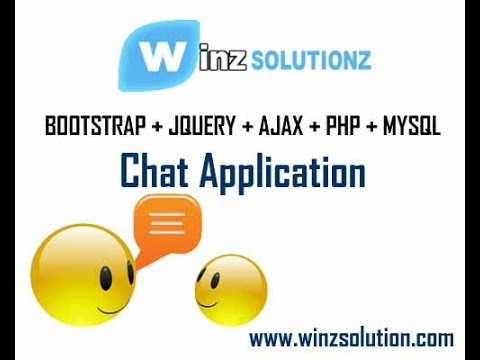 Part 2: Chat Application using Bootstrap, JQuery, Ajax and PHP