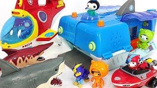 Octonauts Gup-W Reef rescue, Paw Patrol transforming Sub Patroller! Defeat Shark herd! #DuDuPopTOY
